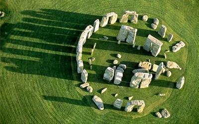 Piedras de stonehenge desde arriba